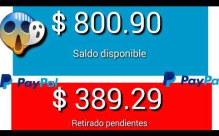 Fácilmente como ganar dinero para PayPal 2018 / ganar 50 por días