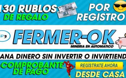 Fermer OK| GANA DINERO Facil Sin Invertir| 130 RUBLOS GRATIS + Comprobante de pago| 2018