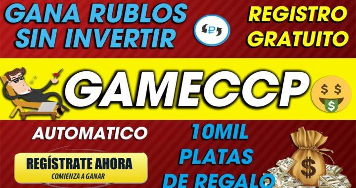 GameCCCP  Gana rublos GRATIS Sin invertir O invirtiendo  2018 Dinero Facil TUTORIAL