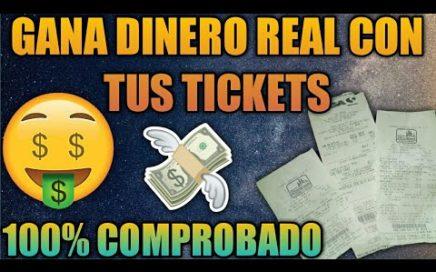 GANA DINERO!!! Con Esta App   Escaneando Tus Tickets   Comprobado...