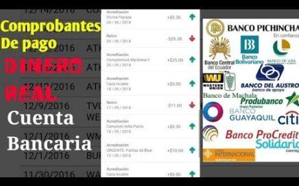 GANA DINERO| PAGOS REALES EN |24 Horas| Cuentas Bancarias de Ecuador