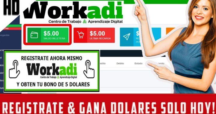 GANA DINERO POR REGISTRARTE EN WORKADI (5$) | como Trabajar desde Casa