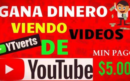 Gana DINERO Viendo Videos   YTverts   Pago en PAYPAL 2018