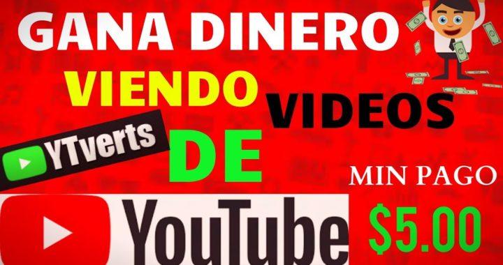 Gana DINERO Viendo Videos | YTverts | Pago en PAYPAL 2018