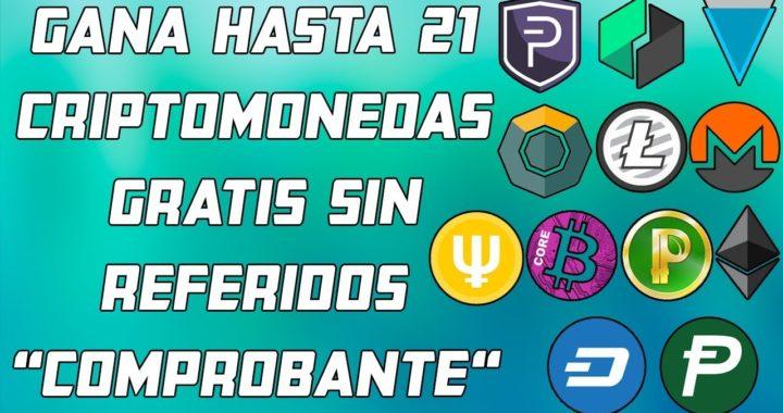 """Gana Hasta 21 Criptomonedas Gratis Sin Referidos """"Comprobante de Pago"""""""