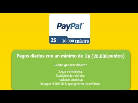 Ganar dinero jugando con pago Paypal