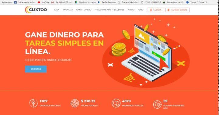 Ganar dinero por internet 2019 clixtoo