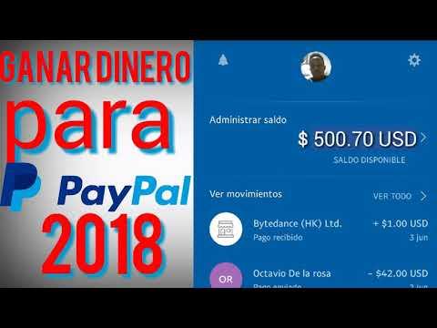 GANAR más dinero para PayPal 2018/como ganar hasta 50 al días