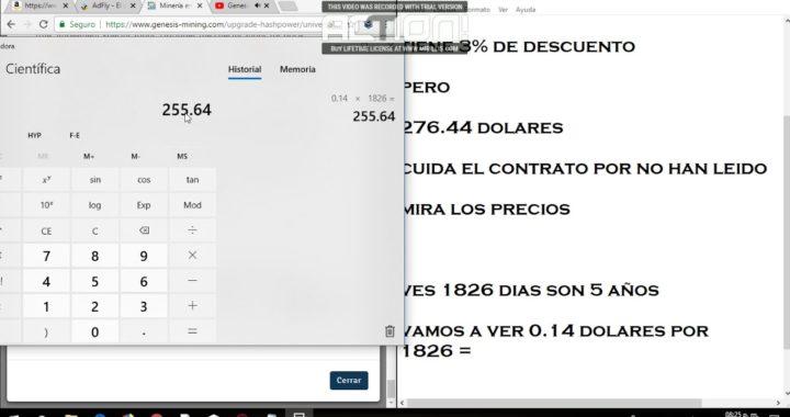 Genesis mining 2018 no gana dinero, Cuida mucho, otra pagina vea mi video completo. en VIVO