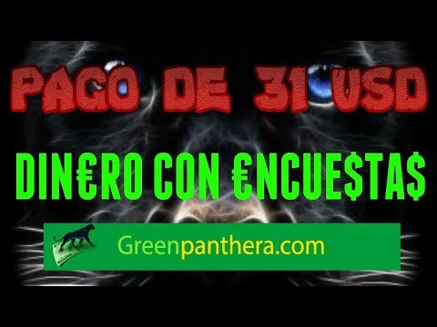 Green Panthera Encuestas Remuneradas Segundo Pago De 31$ Por Paypal
