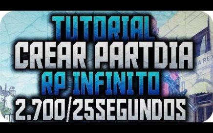 GTA V ONLINE || TUTORIAL CREAR PARTIDA DE RP INFINITO || 2.700 RP EN 25 SEGUNDOS