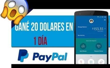 ¡IMPRESIONANTE! GANA 20$ DOLARES EN CUESTION DE HORAS - COMO GANAR DINERO PARA PAYPAL
