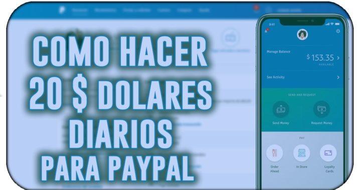 ¡INCREÍBLE! GANO 20$ DIARIOS   COMO GANAR DINERO PARA PAYPAL [JUNIO 2018 + COMPROBANTE DE PAGO]