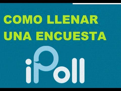 IPOLL - Como llenar una encuesta - 2017