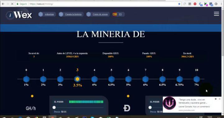 IWEX Minando más de 1$ Diario (Nueva Prueba de Pago) | Gokustian