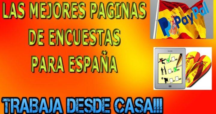 Las Mejores Paginas de Ganar Dinero GRATIS con Encuestas para toda ESPAÑA | Trabaja Desde Casa