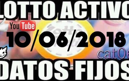LOTTO ACTIVO DATOS FIJOS PARA GANAR  10/06/2018 cat06