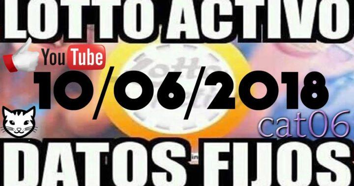 LOTTO ACTIVO DATOS FIJOS PARA GANAR  10/06/2018 cat06