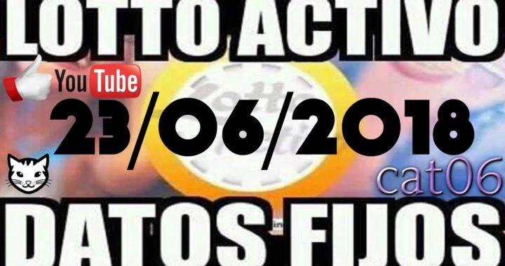 LOTTO ACTIVO DATOS FIJOS PARA GANAR  23/06/2018 cat06