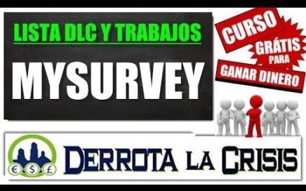 MySurvey, Ganar Dinero Rellenando Encuestas desde Casa en España