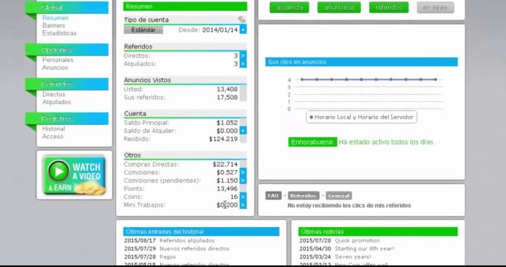 Neobux Regístrate y gana dinero en casa en dólares