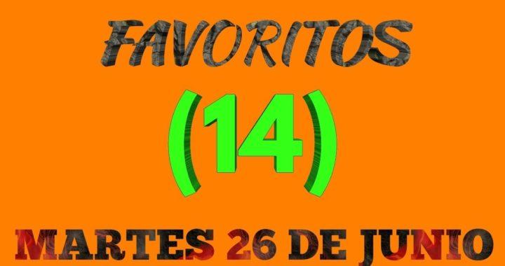 Números favoritos para hoy martes 26 de junio