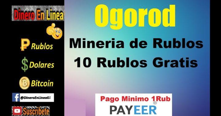 Online-Ogorod   Gana Rublos Con Esta Minería   Pago Mínimo 1 Rublo