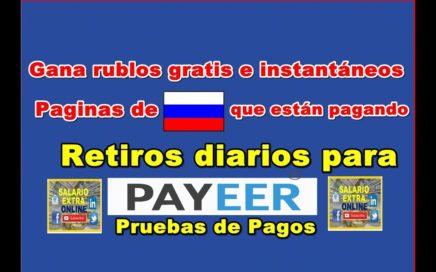 Paginas Rusas que están pagando rublos gratis. Resumen