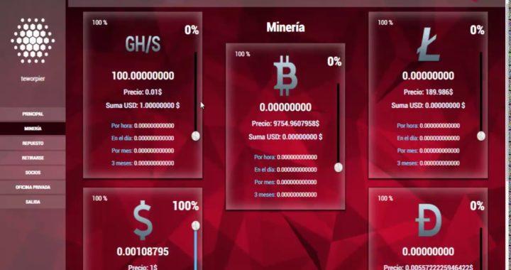 SCAM Mineria en la Nube Que esta Pagando Minimo de Retiro Un Dolar Estan Tealando 100 GHZ