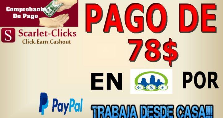 ScarletClicks, Gana Dinero Gratis Viendo Anuncios | Paga 78$ por Paypal | Derrota la Crisis