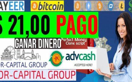 SDR-CAPITAL PRIMER PAGO DE $21,00 DÓLARES - 31 DE MAYO