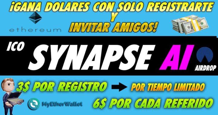 Synapse AI| Nueva ICO Gana dinero invitando amigos 3$ Por registrarte | REAL| TIEMPO LIMITADO