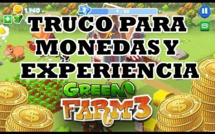 Truco para conseguir MONEDAS, EXPERIENCIA y BILLETES en Green Farm 3 - 2018 | DANIEL VIDES