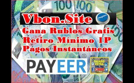 Vbon.Site Gana Rublos gratis. Mínimo Retiro 1 Rublo