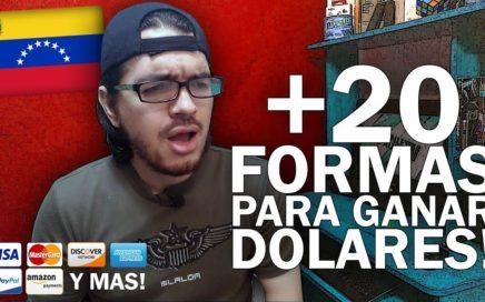 20 PÁGINAS PARA GANAR DÓLARES DESDE VENEZUELA