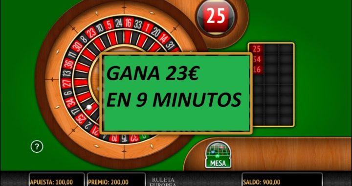 23€ EN 9 MINUTOS RULETA CON DINERO REAL COMO GANARLE A LA RULETA (GARANTIZADO)