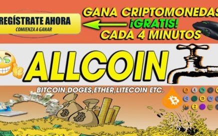 Allcoin| Gana Dinero cada 4 min COMPLETAMENTE GRATIS| Sin invertir ni referidos | Facil 2018