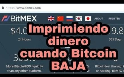 Bitmex margin buying and selling, gana dinero en bearish market