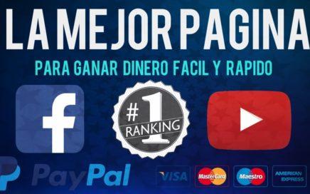 COMO GANAR DINERO CON FACEBOOK & YOUTUBE 2018 | Rápido y Fácil 100% FIABLE | PAYPAL HD
