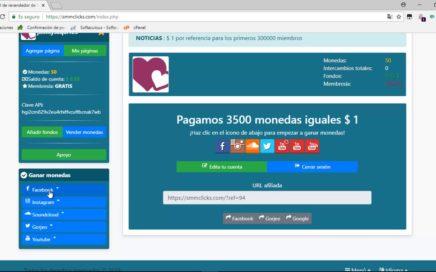 Como Ganar Dinero Para Paypal  Con  Redes Sociales hasta 5$ Diarios Nuevo 2018 (SMMClicks)