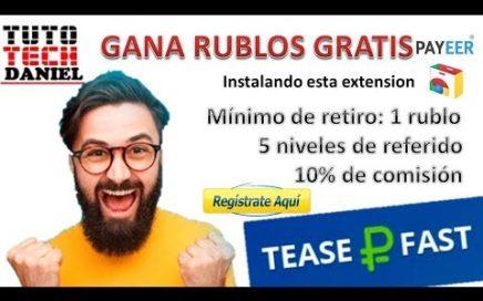 COMO GANAR RUBLOS SIN HACER NADA - TEASER FAST + PRUEBA DE PAGO
