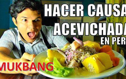 Como hacer Causa acevichada Mukbang - Venezolanos en Peru