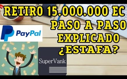 Como retirar dinero via paypal en Supervank