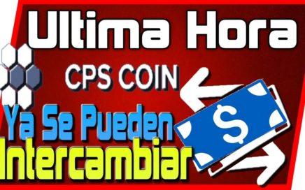 CpsCoin Coinpayments Avance YA SE PUEDE INTERCAMBIAR 17 Julio 2018 Tengo Dinero
