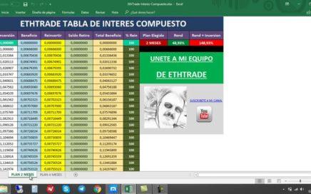 ETHTRADE ESTRATEGIA DE INTERES COMPUESTO TABLA EXCEL