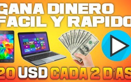 Gana Dinero (20 USD Cada 2 Dias) Nueva Pagina // 2018