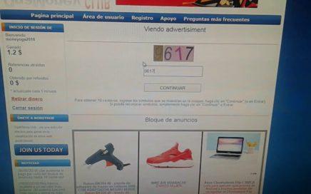 GANA DINERO EN INTERNET SOLO TIPEANDO 4 NÚMEROS!!! USD $0,10 POR PUBLICIDAD!!!