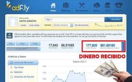 Ganar Dinero para Paypal con Adfly | $80 Cobrados + Comprobante de Pago |