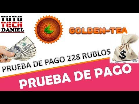 GOLDEN TEA - PRUEBA DE PAGO 228 RUBLOS - JUNIO 2018