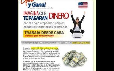 Guia a Encuestas Pagadas - Como Ganar Dinero Extra con Tu Opinion